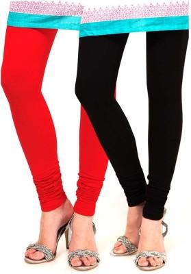 VERMELLO Women's Red, Black Leggings