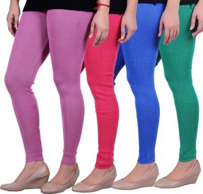 Sellsy Women's Purple, Pink, Blue, Green Leggings