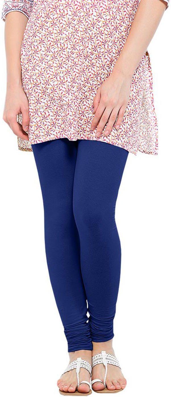 Linking Threads Womens Blue Leggings