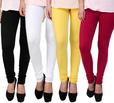 umesh fashion Women's Black, White, Yellow, Maroon Leggings