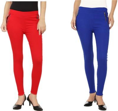 Emblazon Women's Red, Blue Jeggings