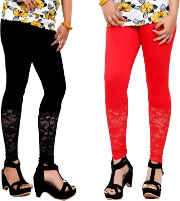 By The Way Women's Black, Red Leggings