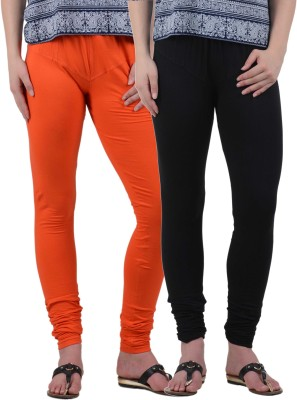 American-Elm Women's Orange, Black Leggings
