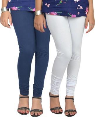 shivam Garments Women's White, Blue Leggings