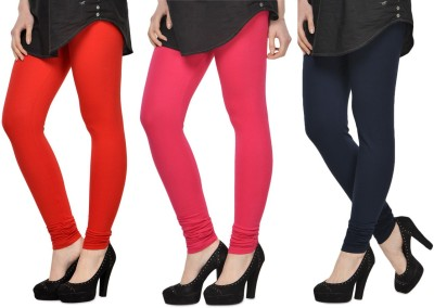 SareeGalaxy Women's Red, Pink, Black Leggings