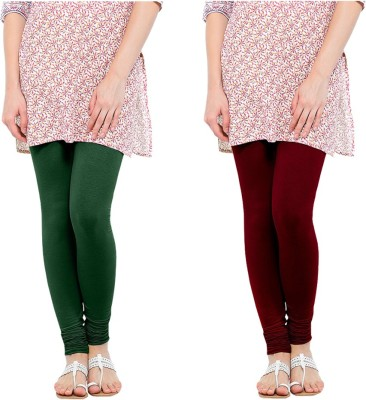 Oh Fish Women's Green, Maroon Leggings