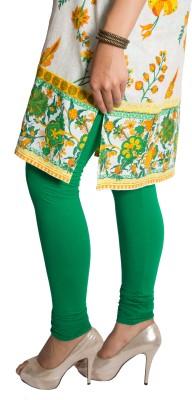 Red Saffron Women's Green Leggings