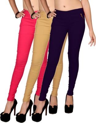 Zea-Al Women's Pink, Beige, Purple Jeggings