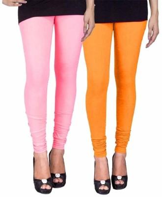 Ayesha Fashion Women's Pink, Yellow Leggings