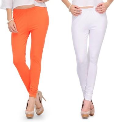 Body Size Women's White, Orange Leggings