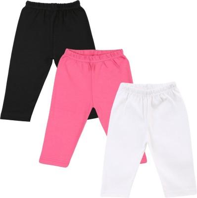Color Fly Baby Girl's Black, Pink, Green Leggings