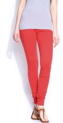 KV FASHIONS Women's Red Leggings