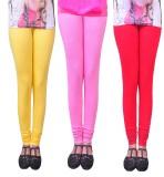 Anubhaviya Women's Red, Pink, Yellow Leg...