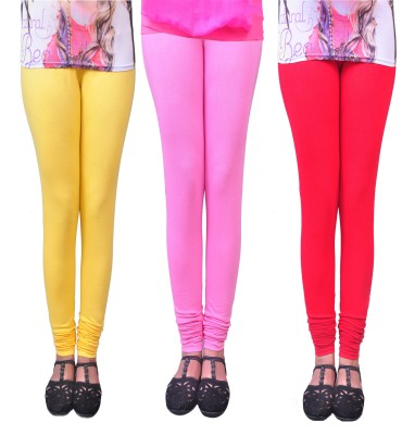 Anubhaviya Women's Red, Pink, Yellow Leggings
