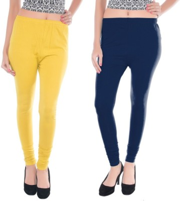 Colors More Women's Blue, Yellow Leggings