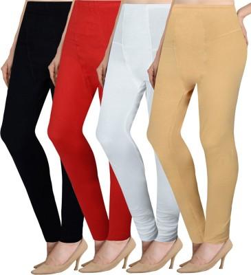 NGT Women's Multicolor Leggings(Pack of 4) at flipkart