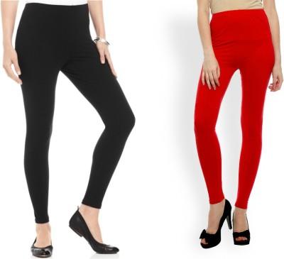 Kamaira Women's Black, Red Leggings