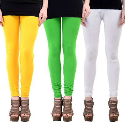 Mynte Women's Yellow, White, Green Leggings
