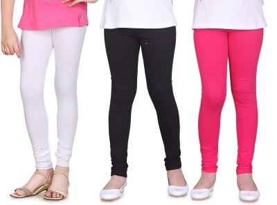 Sini Mini Girl's White, Black, Pink Leggings