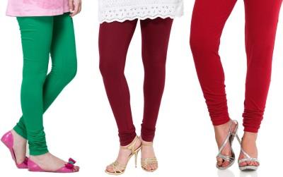 Lienz Women's Green, Maroon, Red Leggings