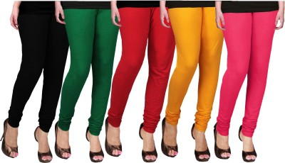 WCTrends Women's Black, Green, Red, Yellow, Pink Leggings