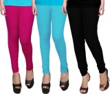 WCTrends Women's Pink, Blue, Black Leggi...