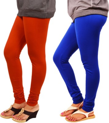Leggings World Women's Orange, Blue Leggings