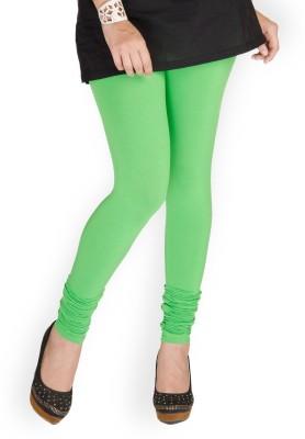 Cotton Lycra Women's Green Leggings