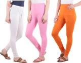 Diaz Women's White, Pink, Orange Legging...