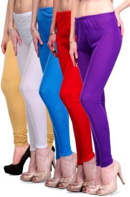 Rowena Women's Beige, White, Light Blue, Red, Purple Leggings