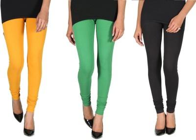 Ally Of Focker Women's Black, Green, Yellow Leggings