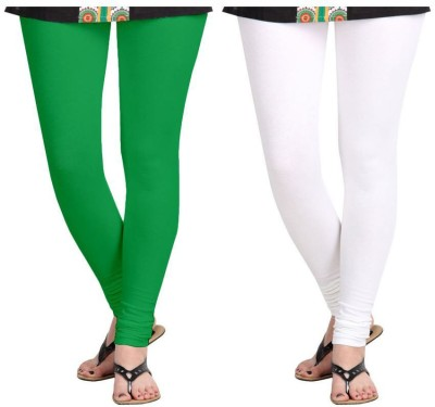 Roshni Creations Women's White, Green Leggings