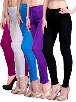Rowena Women's Purple, White, Light Blue, Black Leggings