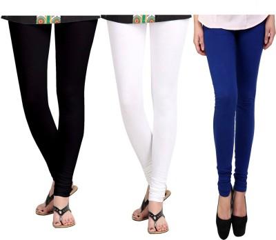 Vastra Buzz Women's White, Black, Dark Blue Leggings