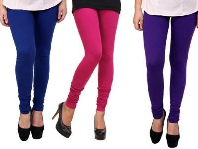 Dharamanjali Women's Blue, Pink, Purple Leggings