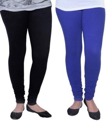 Tele Queen Women's Multicolor Leggings(Pack of 2)