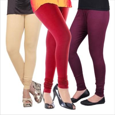 Melisa Women's Beige, Red, Purple Leggings