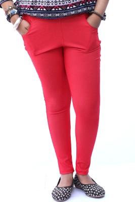 Vita Elegante Women's Red Jeggings
