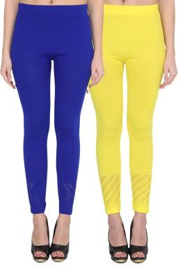 NumBrave Women's Blue, Yellow Leggings