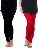 Famaya Gold Women's Black, Red Leggings ...