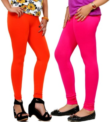 By The Way Women's Orange, Maroon Leggings