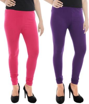 Paulzi Women's Pink, Purple Leggings