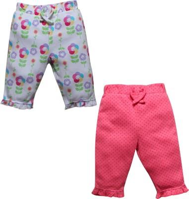 FS Mini Klub Baby Girl's White, Pink Leggings