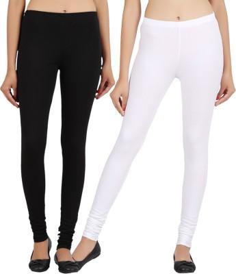 Sewn Women's White, Black Leggings