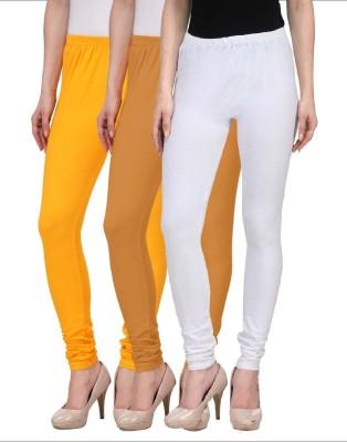 Desi Duos Women's Brown, Gold, White Leggings