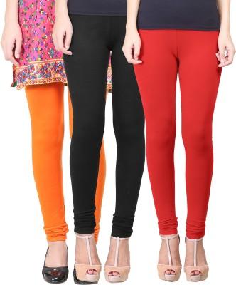 Eshelle Women's Black, Orange, Red Leggings