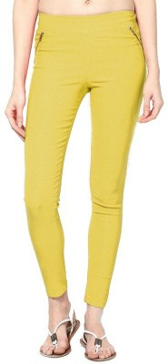 PINK SISLY Women's Yellow Jeggings
