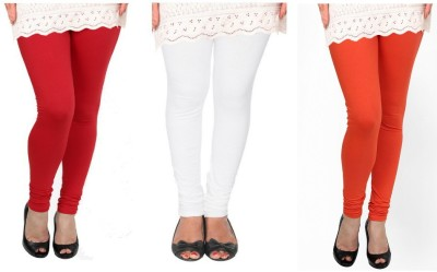 Raro Women's Red, White, Orange Leggings