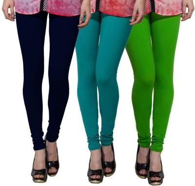 Both11 Women's Dark Blue, Green, Green Leggings