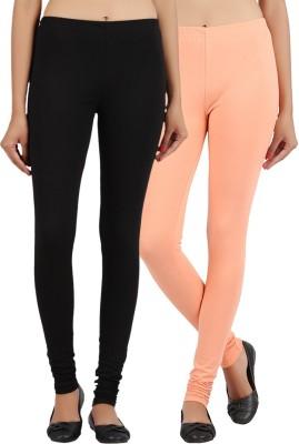 Sewn Women's Beige, Black Leggings